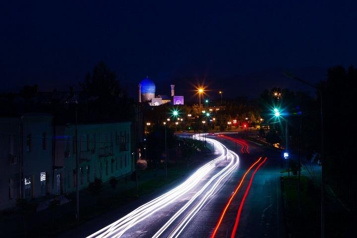 Дорога в Самарканде, Узбекистан