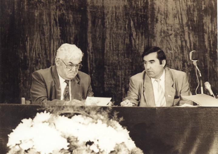 Рахмон Набиев и Эмомали Рахмонов