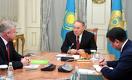 К Назарбаеву приехал кандидат на пост генсека ОДКБ от Беларуси
