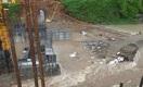 Строящуюся ГЭС затопило дождевой водой