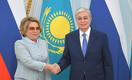 Матвиенко на встрече с Токаевым сделала комплимент Нур-Султану