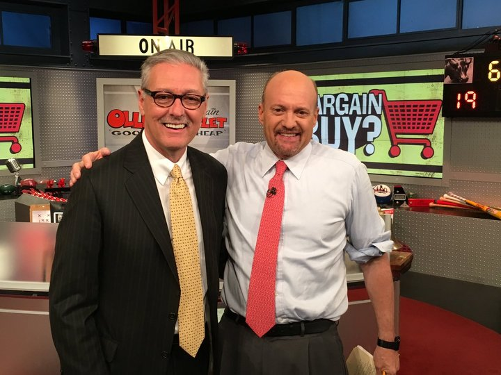 Ollie's CEO Mark Butler (left) on Mad Money on CNBC