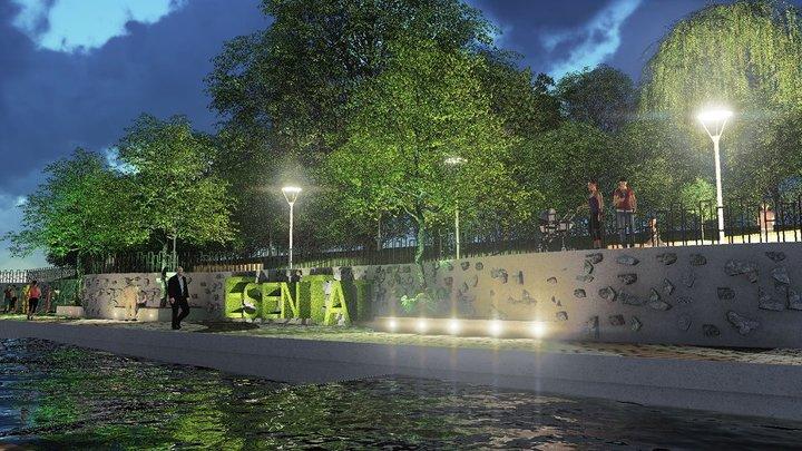 Эскиз реконструкции набережной реки Есентай