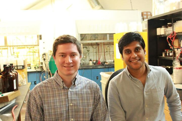 Sean Hunt and Gaurab Chakrabarti, cofounders of Solugen