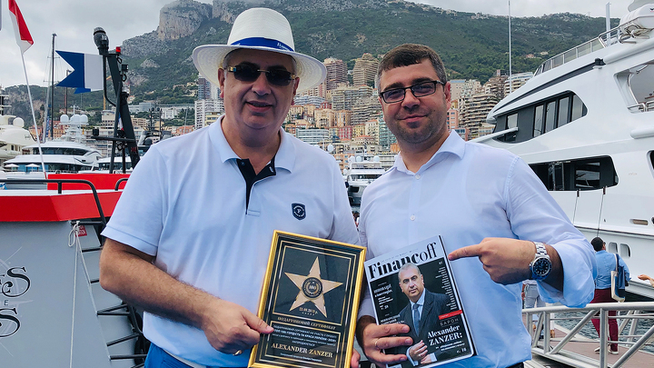 Bogdan Terzi with the Belgium baron Alexander Zanzer, the businessman, advisor on diplomatic issues (Monaco Yacht Show)