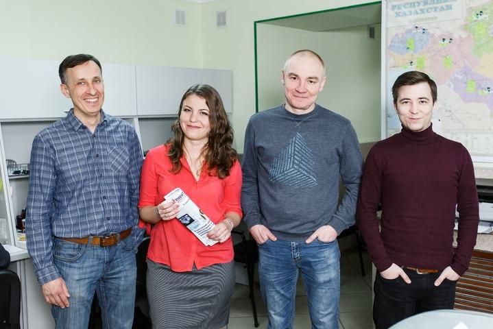 Виталий Ермоленко и ключевая команда MedElement - разработчики и руководитель отдела контента